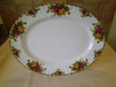 "Royal Albert Old Country Roses Oval Platter 13"" X 10"""