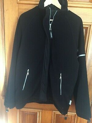 Original New Yamaha Black Fleece Paddock Jacket Size M lined