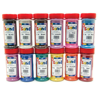 Hygloss Products Bucket O Sand 12 Asstd Colors 1 Lb Each 29129