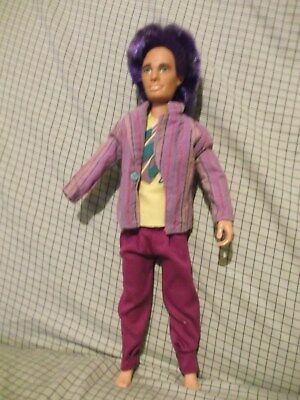 """Vintage 13"""" Rio doll from Jem & the Holograms. missing hand - no shoes"""