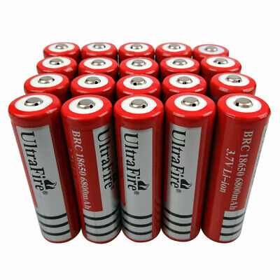20x18650 Li-ion Battery 6800mAh 3.7V Rechargeable Batteries For Flashlight Torch