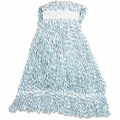 Genuine Joe Medium Striped Finish Mop Looped 21oz. 12/CT Blue/White MBW1BCT