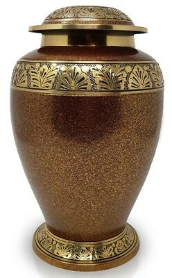 Large Cremation Urn for Ashes Adult Funeral Memorial Urn Brown REDUCED MARKS