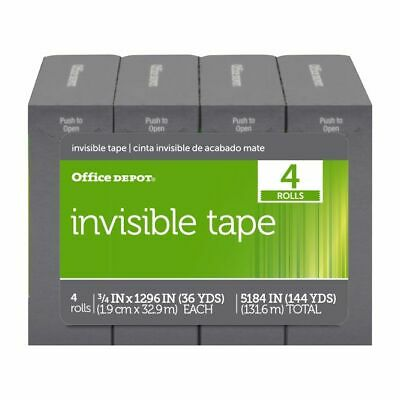 "Office Depot® Brand Invisible Tape, 3/4"" x 1,296"", Pack Of 4 Rolls"