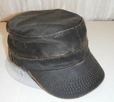 New Dorfman Pacific weathered Cotton cadet military style Cap HAT large   xl eb326e8717a1