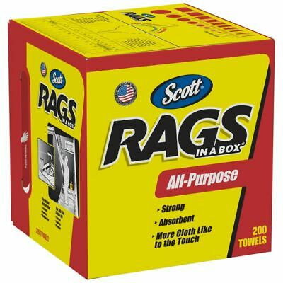 Scott® Rags In A Box, Box Of 200 Rags