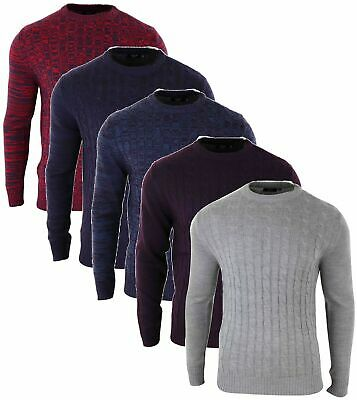 Mens New D&H Twisted Cable Sweatshirts Winter Jumper