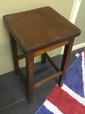 Old Wooden Kitchen Stool 58 Cm