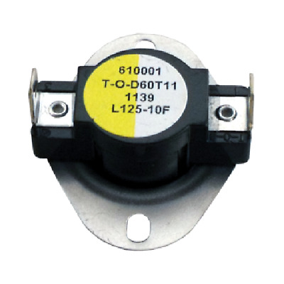 Supco L125 Thermostat | 60T11 STYLE 610001 Open 125 °F, Close 115 °F, 10° Dif
