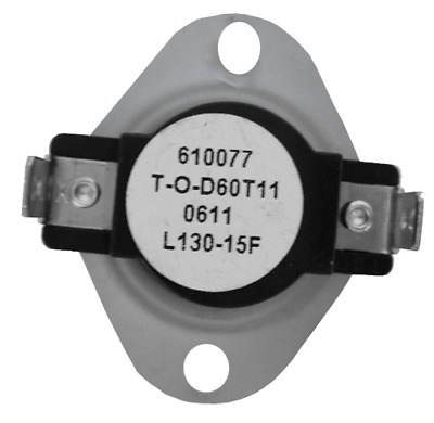 Supco L130 SPST Limit Control Thermostat Open 130 °F, Close 115 °F, 15° Dif
