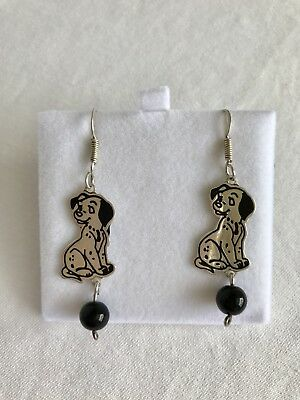 Vintage Disney 101 Dalmatians Dogs 925 Sterling Silver Earrings Mexico Signed
