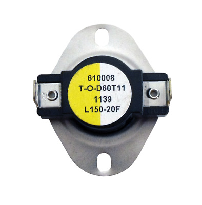 Supco L150 Limit Control Thermostat SPST Open 150 °F, Close 130 °F, 20° Dif