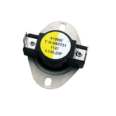 Supco L145 Limit Control Thermostat SPST Open 145 °F, Close 125 °F, 20° Dif