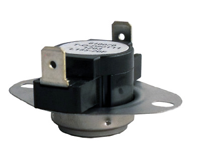 Supco L165 Limit Control Thermostat SPST Open 165 °F, Close 145 °F, 20° Dif