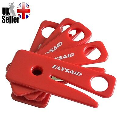 2 x Seatbelt Cutter Safe Handle Razor Blade Car Seat Belt Cutter Red Blue Yellow