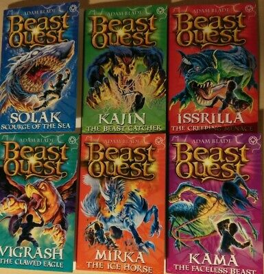 Used, Beast Quest Series 12. Set of 6 books
