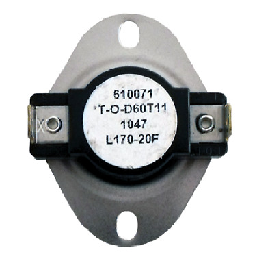Supco L170 Limit Control Thermostat SPST Open 170 °F, Close 150 °F, 20° Dif