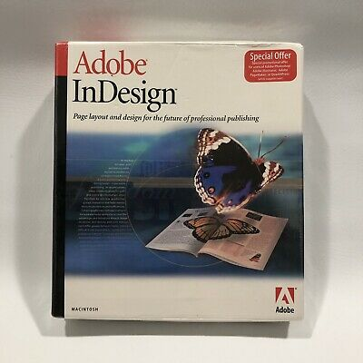 Adobe InDesign 1.0 for MAC Macintosh Software - Brand New! Factory Sealed