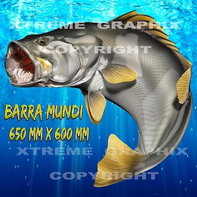 Barramundi Decal Left&right 650Mm X 600Mm  Boat / Car / Truck