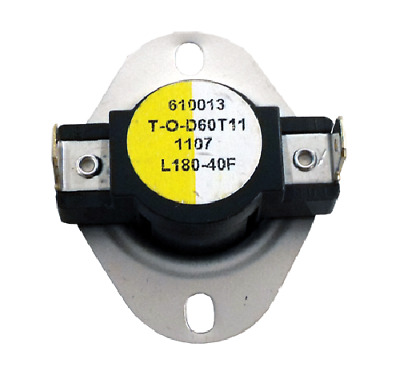 Supco L180-40 Limit Control Thermostat SPST Open 180 °F, Close 140 °F, 40° Dif