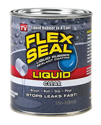 Flex Seal Clear Liquid Lot Of 6 Cans Large 16 Ounce Cans  (Clear) 16-oz