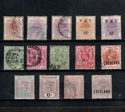 Orange Free State / River Colony / Zululand Selected Mint & Used Stamps