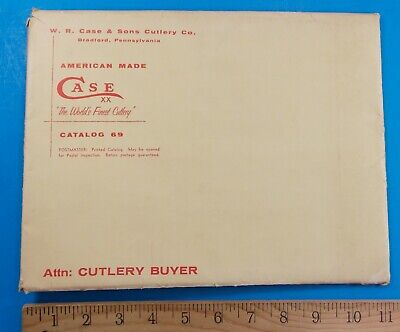 Vintage Case Xx Envelope For Catalog #69 Rhett Stidham Estate