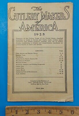 1925 The Cutlery Makers Of America Directory Rhett Stidham Estate