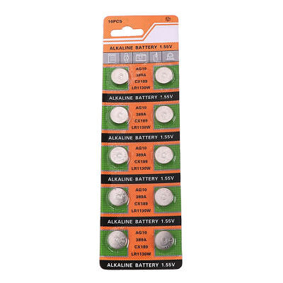 9 x AG10 GP189 SR54 LR1130 L1131 1.5V Alkaline Button Cell Battery soda