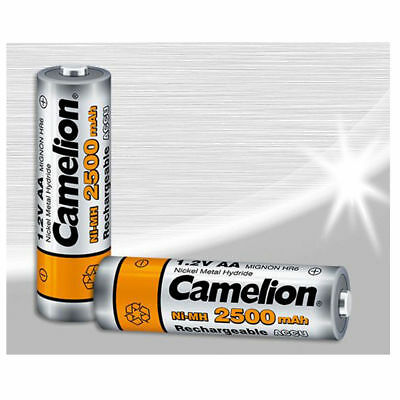 4 x Camelion AA Rechargeable Battery 2300mAh HR6 Retail Pack of 2s New Fast Post