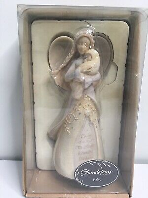 Foundations By Enesco Baby Is A KISS From Heaven Handmade Inspirational Figurine