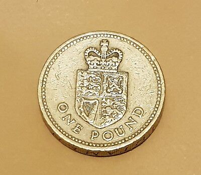 1988 £1 Coin Rare One Pound Shield Of The Royal Arms