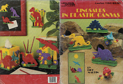 Dinosaurs in PLASTIC CANVAS Needlepoint chart book