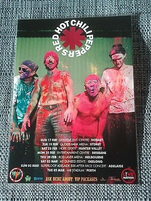 RED HOT CHILI PEPPERS - 2019 Australia Tour - Laminated Promo Tour Poster