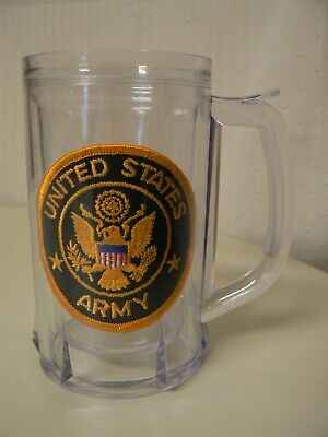 LKS United States Army Plastic 16 Ounce Stein