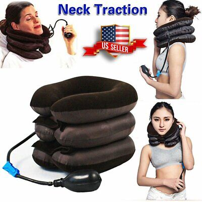 NEW Neck Massager Brace Support Cervical Collar Air Traction Therapy Device 2019