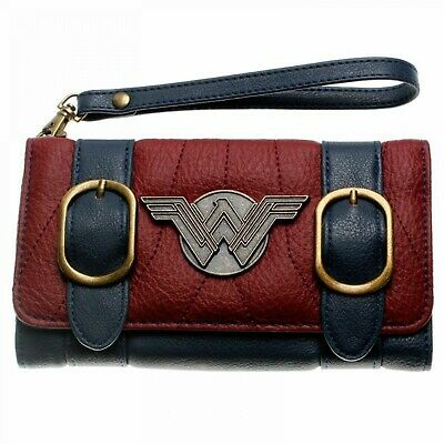 DC comics wonder woman double buckle fold flap wallet Clutch Girl Fashion Bag