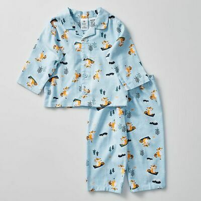 NEW Skating Fox Flannelette Pyjama Set