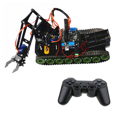 DIY PS2 Remote Control Tank Chassis Robot Arm for Arduino Learning Kit