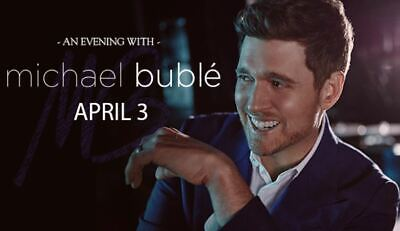 2 tickets Michael Buble*Oracle Arena*4/3*Row 6*Sec 116