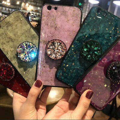 Bling Shockproof Crystal Diamond Stand Case For iPhone XS Max XR X 8 7 6s Plus