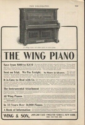 1901 Wing Delineator Piano Music Classical Instrument 8091