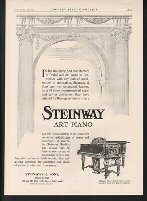 1909 Steinway  Piano Music Dance Parlor Grand Beauty Decor Victorian Gilt 22570