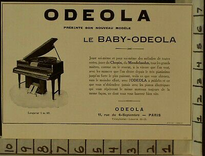 1928 Odeola Player Baby Piano Electric Music Dance Paris France  2288022880