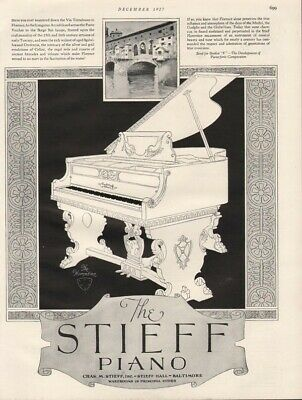 1927 Stieff Florentine Piano Music Instrument  Sing Tornabuoni Italy 19068