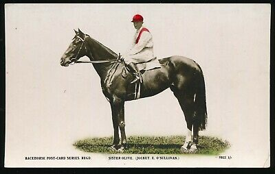 Horse racing Postcard 1921 Melbourne Cup Sister Olive Racehorse Post Card Series