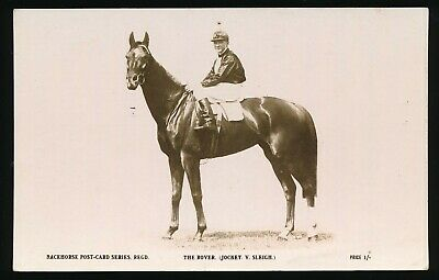 Horse racing Postcard The Rover V Sleigh The Rose Racehorse Post Card Series