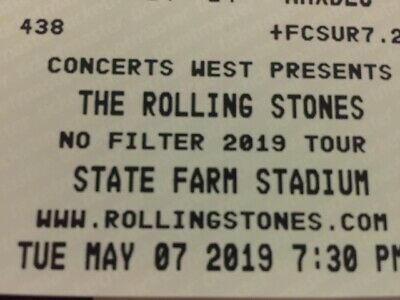4 Rolling Stones No Filter Tour tickets 5/7/19