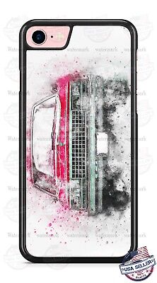 Vintage Classic Chevrolet Red Car Art Phone Case for iPhone Samsung LG Moto etc