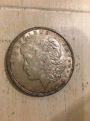 1921 - Morgan Silver Dollar - Last Year - 90% - US Coin